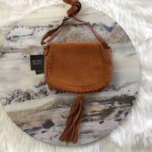 I.N.C/ Tan Vegan Leather Crossbody/ Cognac